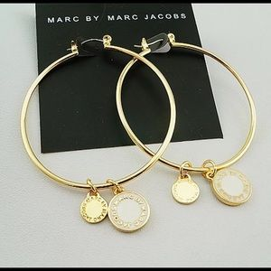 """New Marc Jacobs 2"""" Gold Hoops"""